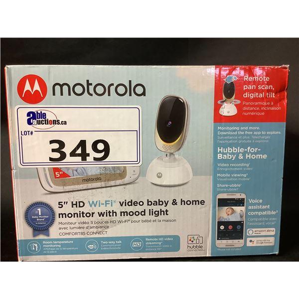 "MOTOROLA 5"" HD WI-FI VIDEO BABY & HOME MONITOR WITH MOOD LIGHT"