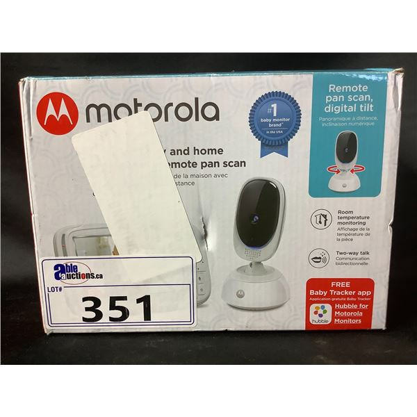"""MOTOROLA 5"""" HD WI-FI VIDEO BABY & HOME MONITOR WITH REMOTE PAN SCAN"""
