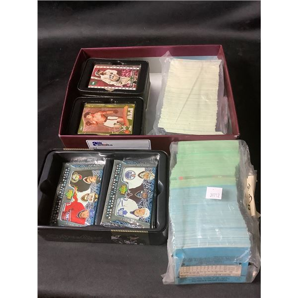 BOX & BAG OF ASSORTED HOCKEY CARDS