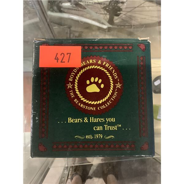 """BOYDS BEARS THE BEARSTONE COLLECTION """"OTIS - THE FISHERMAN"""""""