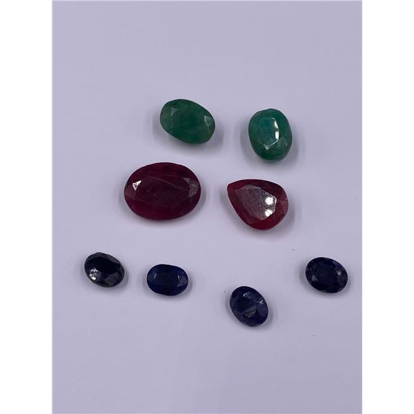 MIXED GEMSTONES EMERALD, RUBY, SAPPHIRE, 56.18CT, MADAGASCAR AND BRAZIL