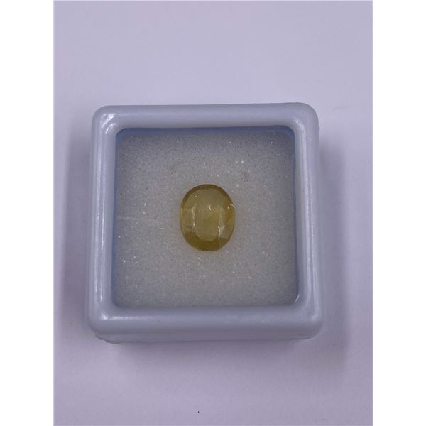 YELLOW SAPPHIRE 2.60CT, 8.89 X 7.35 X 3.53MM, OVAL, VS CLARITY, MADAGASCAR, UNHEATED AND UNTREATED
