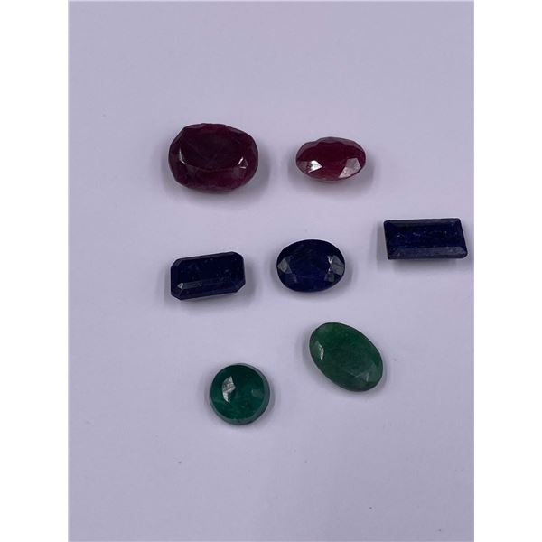 MIXED GEMSTONES EMERALD, RUBY, SAPPHIRE, 49.91CT, MADAGASCAR AND BRAZIL