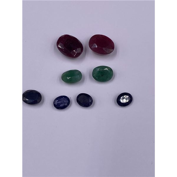 MIXED GEMSTONES EMERALD, RUBY, SAPPHIRE, 58.90CT, MADAGASCAR AND BRAZIL