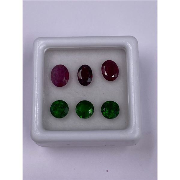 DIOPSIDE 1.66CT, RUSSIA, VVS, RUBY 1.89CT, MOZAMBIQUE, VVS, UNTREATED
