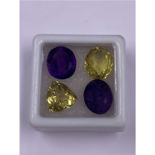 MIXED LOT CITRINE AND AMETHYST 17.68CT, MIXED CUT, BRAZIL, VVS CLARITY, UNTREATED