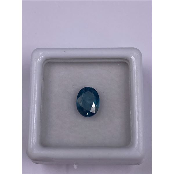 NATURAL BLUE ZIRCON 2.18CT, 8.1 X 6.0 X 3.6MM, OVAL CUT, VVS CLARITY, CAMBODIA, UNTREATED
