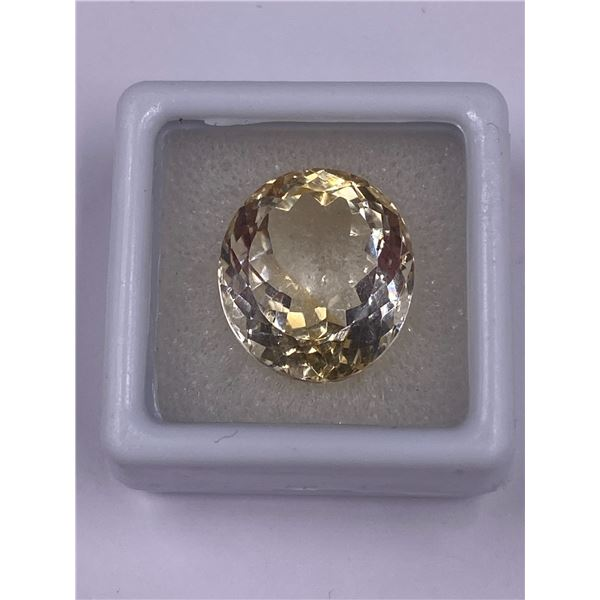 EXCELLENT CITRINE MASTER CUT 1.47CT, 16.65 X 14.84 X 9.87MM, OVAL CUT, LOUPE CLEAN CLARITY, BRAZIL,