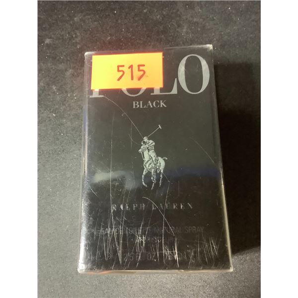 NEW SEALED 2.5 FL OZ POLO BLACK BY RALPH LAUREN COLOGNE