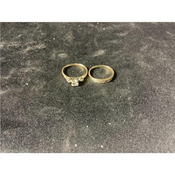 14K & 10K YELLOW GOLD DIAMOND RINGS