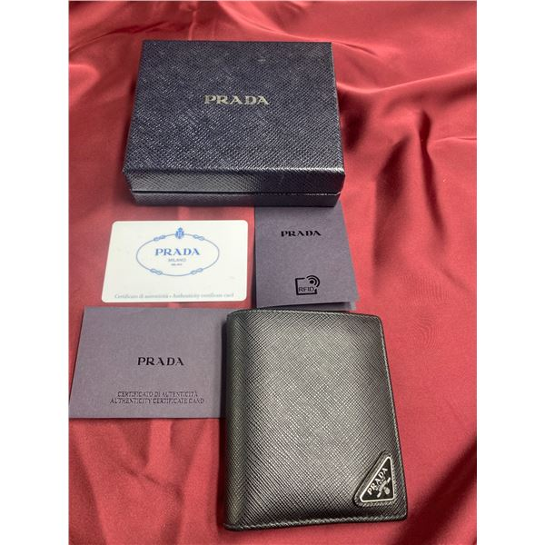 AUTHENTIC PRADA WALLET WITH BOX AND CERTIFICATE OF AUTHENTICITY