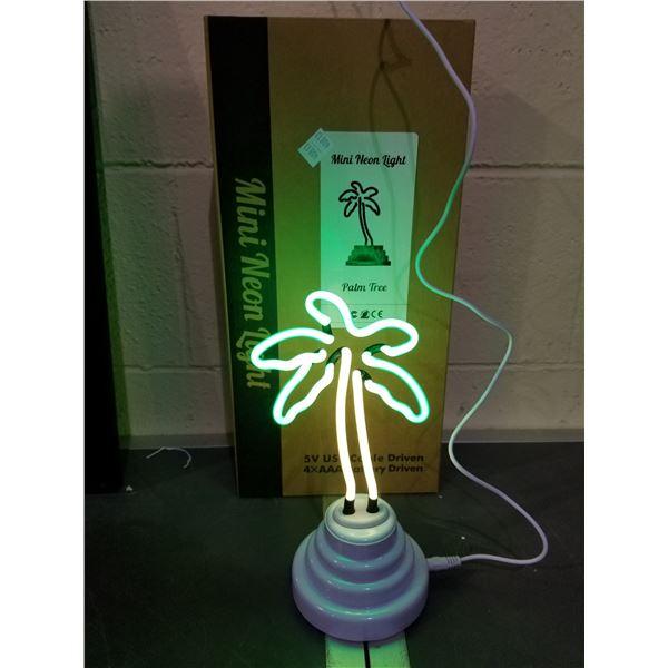 """MINI 5V USB CABLE DRIVEN """"PALM TREE"""" NEON LIGHT"""