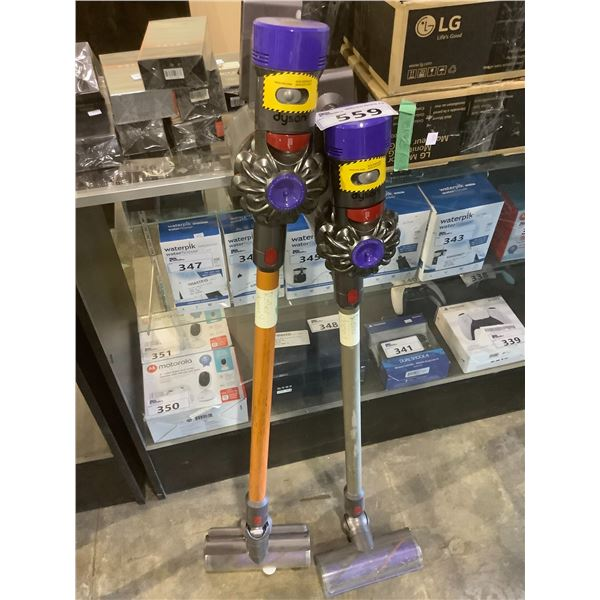 2 DYSON VACUUMS FOR PARTS & REPAIR