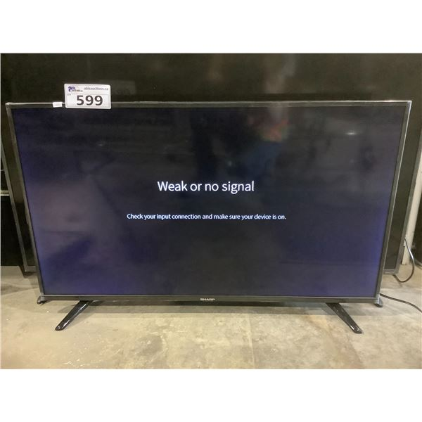 """SHARP 40"""" HDTV MODEL LC40N5004U (NO REMOTE, WITH STAND + POWER CORD)"""