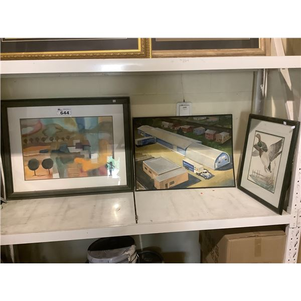 2 FRAMED PICTURES & PHOTO