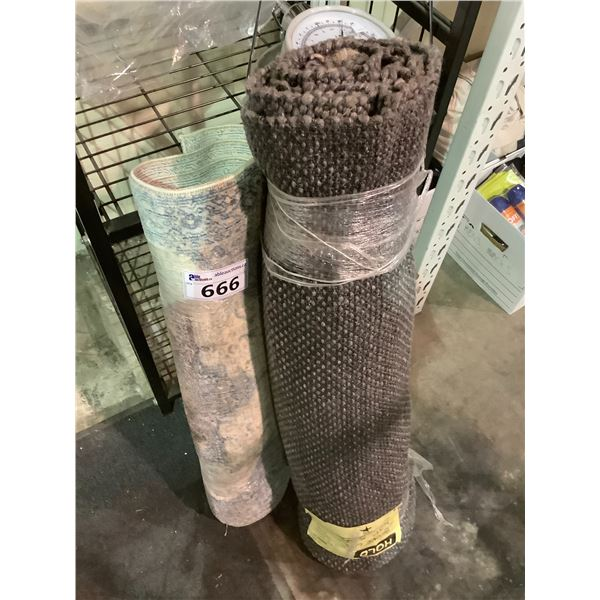 2 AREA RUGS (SIZES UNKNOWN)