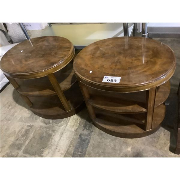 2X 3-TIER SIDE TABLES