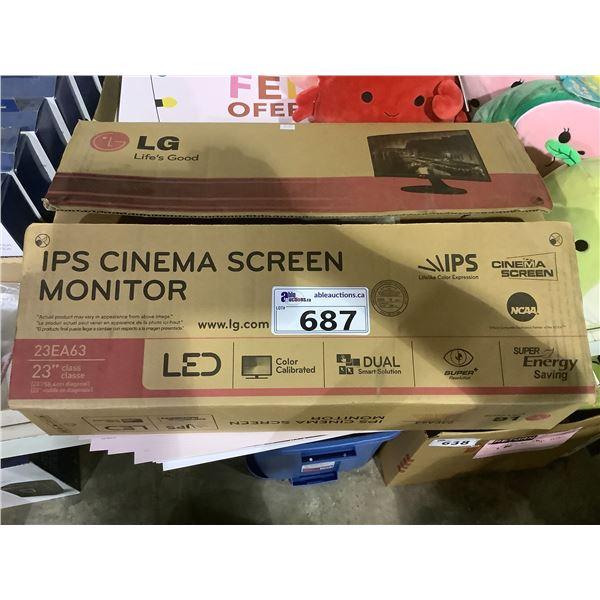 """LG 23"""" MONITOR MODEL 23EA63"""