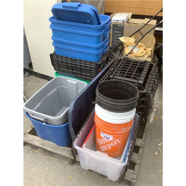 PALLET OF BUCKETS & TOTES