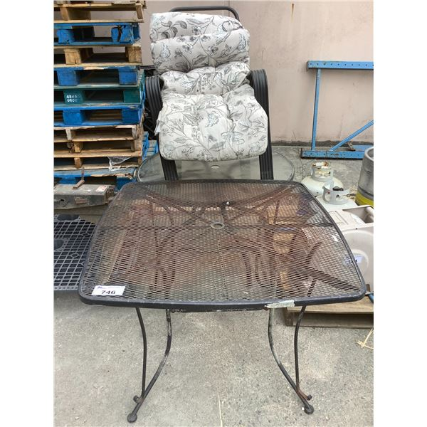 2 OUTDOOR PATIO TABLES & CHAIR