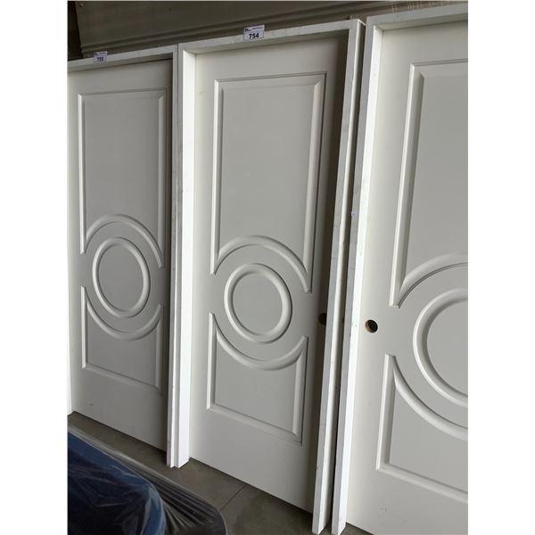 "WHITE INTERIOR DOOR WITH FRAME 80""H X 32""W"