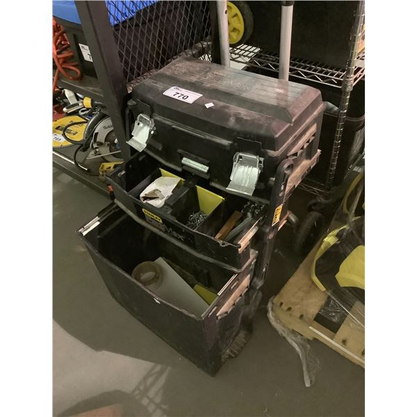 STANLEY FATMAX COLLAPSABLE TOOLBOX & CONTENTS