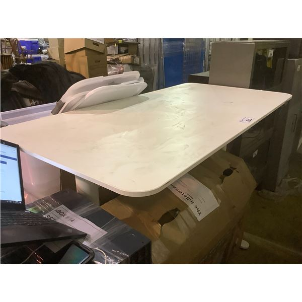 ELECTRIC ADJUSTABLE HEIGHT DESK (SOME COSMETIC DAMAGE)