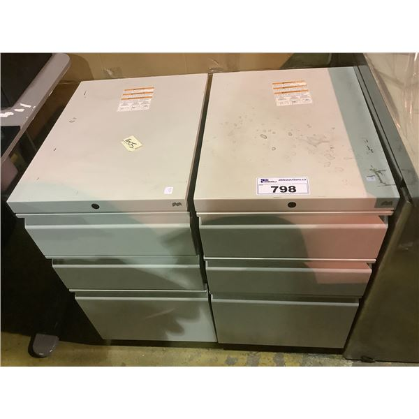 2 X 3-DRAWER FILING CABINETS