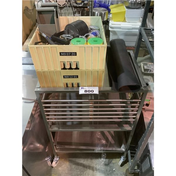 ROLLING CART & WIRING, WEIGHTS & MISC