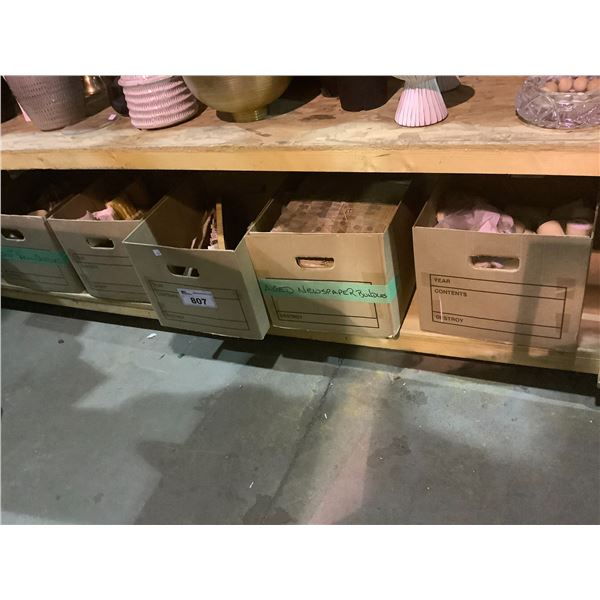 4 BOXES OF ASSORTED MISC, CANDLES, ETC