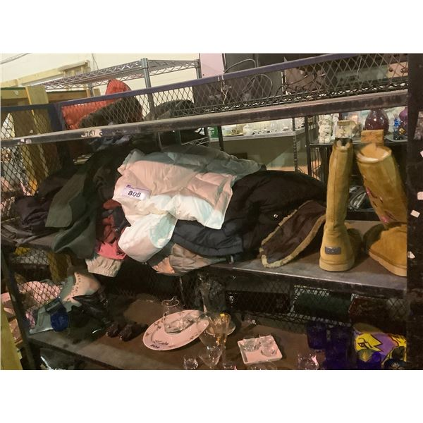 ASSORTED PANTS, JACKETS, BOOTS, ETC