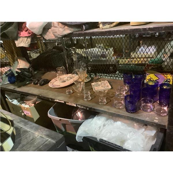 ASSORTED GLASSWARE / KITCHENWARE