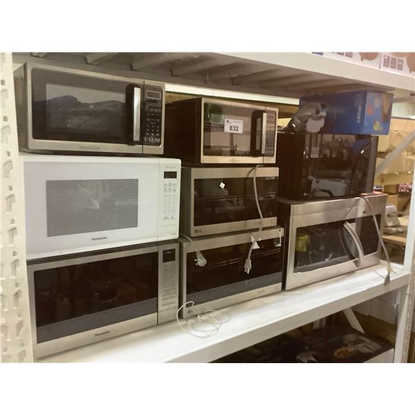 8 ASSORTED MICROWAVES & SODASTREAM FIZZI (FOR PARTS & REPAIR)