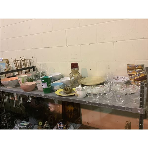 HOUSEHOLD ITEMS (GLASSWARE, DISHES, ETC)