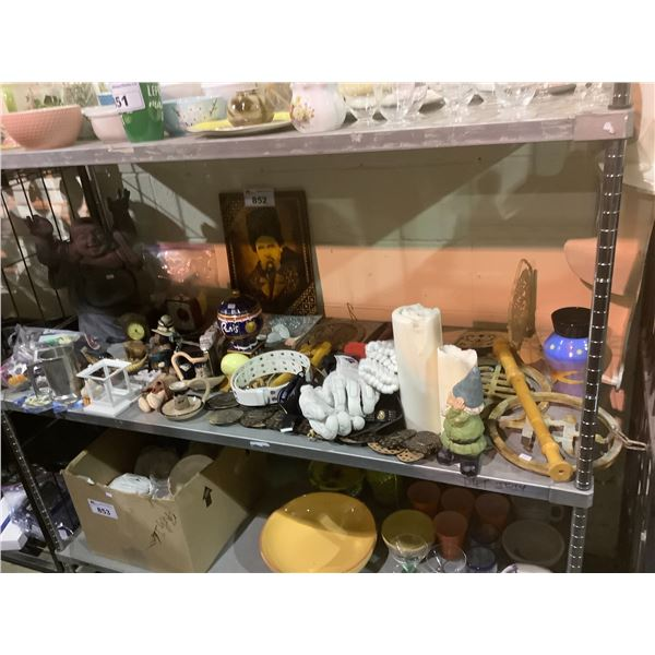 HOUSEHOLD ITEMS (STATUES, FIGURINES, ASSORTED DECOR, ETC)