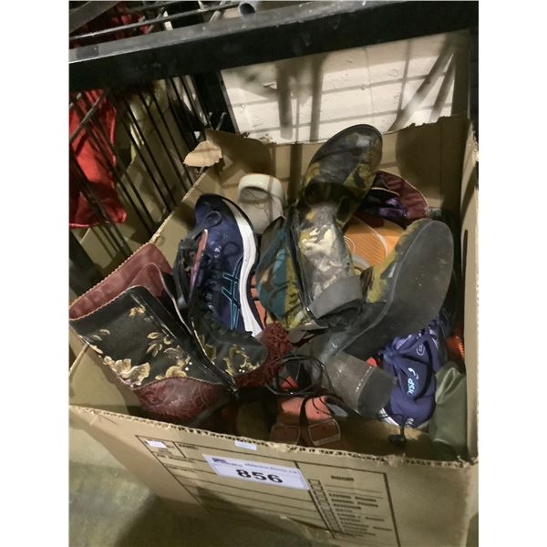BOX OF ASSORTED BOOTS & SHOES