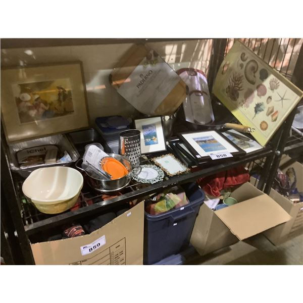 PICTURE FRAMES, SERVING TRAYS, CUTTING BOARD, FOOD CONTAINERS, KITCHENWARE