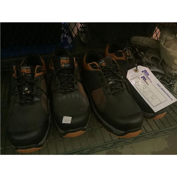 2 NEW PAIRS OF TIMBERLAND STEEL TOES (SIZE 8 & SIZE 9)