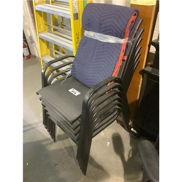 6 OUTDOOR PATIO CHAIRS