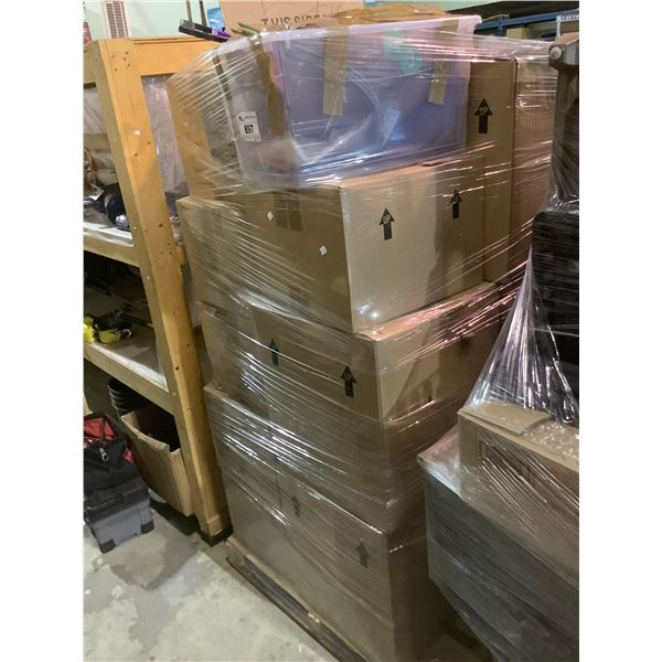 PALLET OF HOUSEHOLD ITEMS & MISC