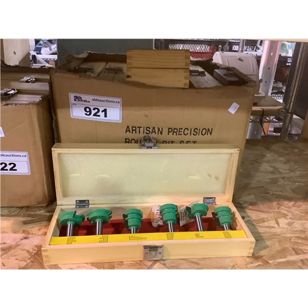 BOX OF APPROX 12 ARTISAN PRECISION ROUTER BIT SETS