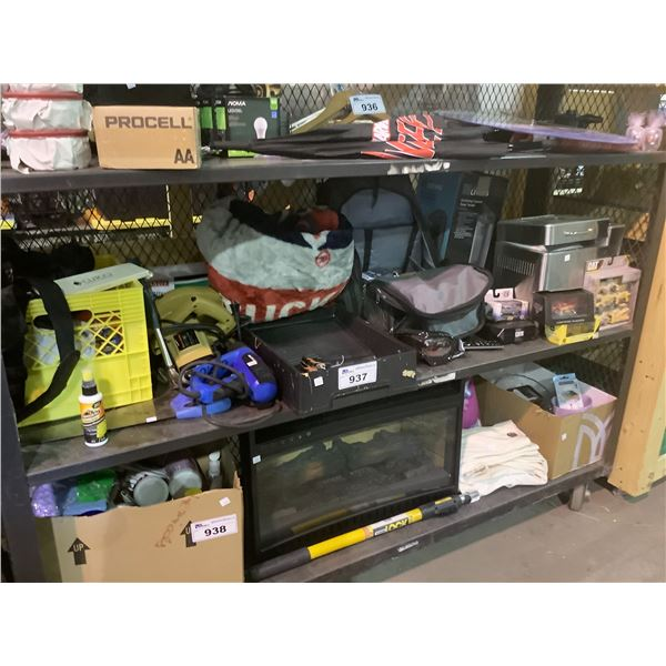 POWER TOOLS, HOUSEHOLD ITEMS, MODEL CARS, OSCILLATING TOWER FAN, MISC