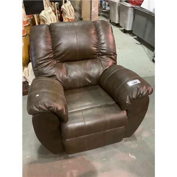 LEATHER RECLINER SOME FLAWS