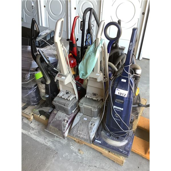 PALLET OF ASSORTED VACUUMS