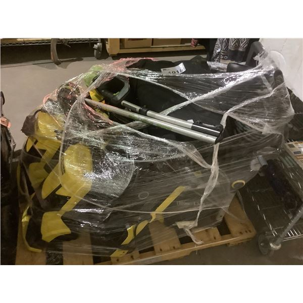 PALLET OF PRESSURE WASHERS, AIR BLOWERS, HEDGE TRIMMER, ETC (FOR PARTS & REPAIR)
