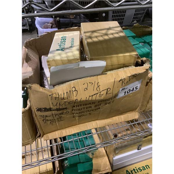 BOX OF ARTISAN PRECISION ROUTER BITS