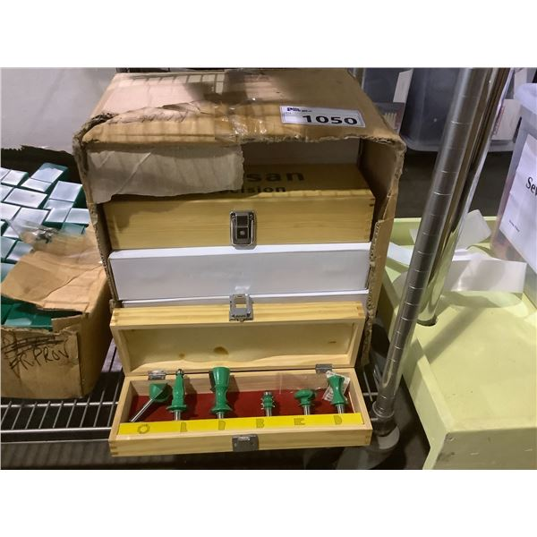 BOX OF 10 ARTISAN PRECISION ROUTER BIT SETS
