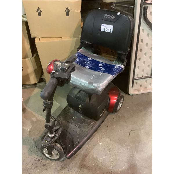 PRIDE ELECTRIC WHEELCHAIR (FOR PARTS & REPAIR)