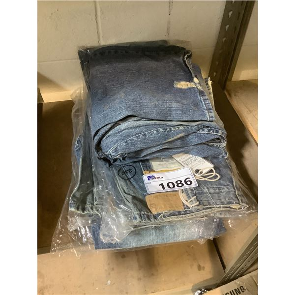 APPROX 6 PAIRS OF NEW ASSORTED SIZE JEANS