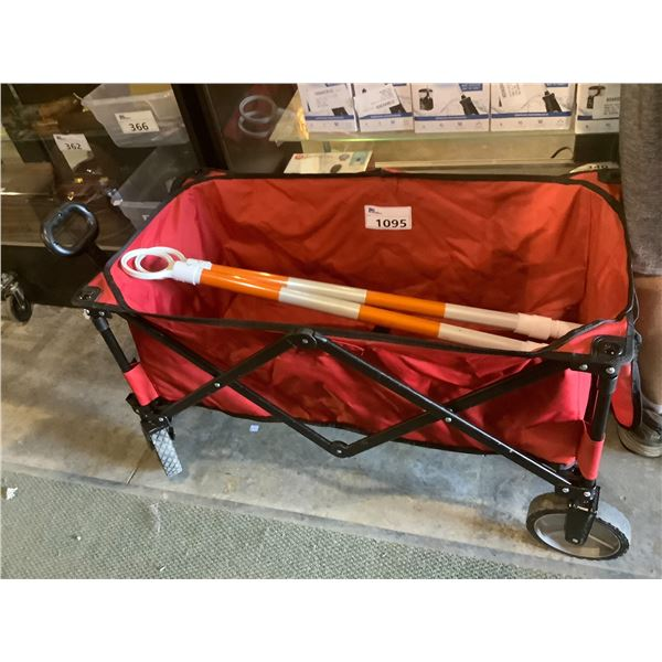 OZARK TRAIL COLLAPSIBLE WAGON & SURVEYING RODS